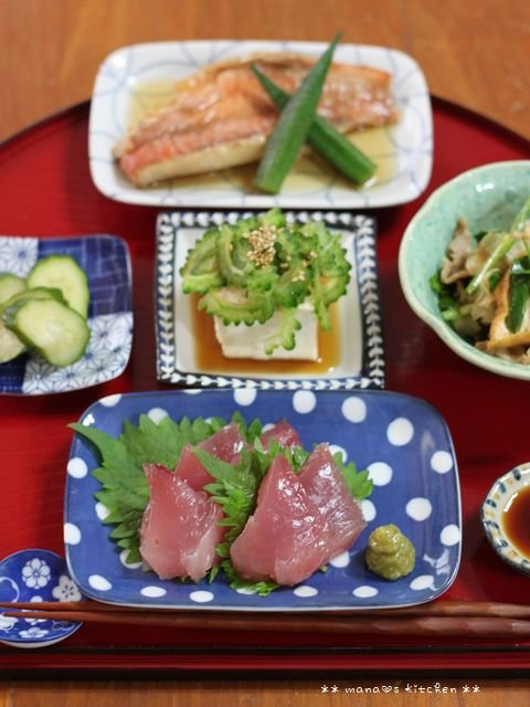 目からうろこ!(゚д゚)スイカの切り方 ✿ bento&晩ご飯♪_c0139375_11153514.jpg
