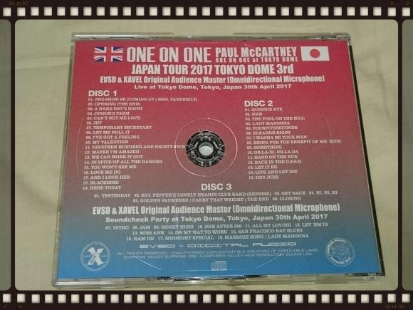 PAUL McCARTNEY / ONE ON ONE JAPAN TOUR 2017 TOKYO DOME 3RD 30th April_b0042308_23511661.jpg