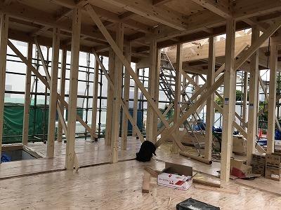 建て方工事中 ~松本市小屋の住宅~_e0180332_17211854.jpg