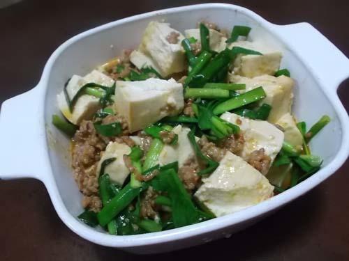 麻婆豆腐&スペイン風オムレツ_f0019498_15351653.jpg