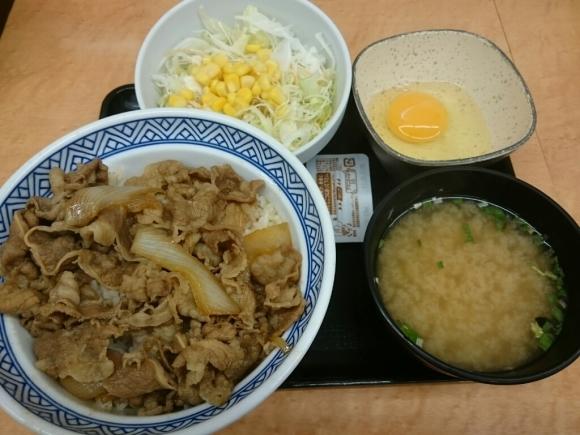 7/13  牛丼アタマの大盛汁だくAセット + 生玉子 合計¥670_b0042308_19232918.jpg