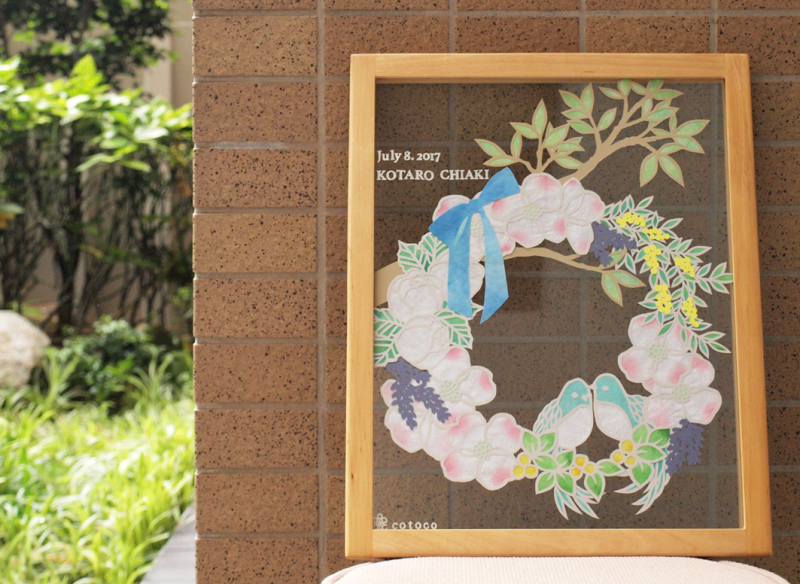花水木と鳥さんのウェルカムボード_d0051613_15255962.jpg