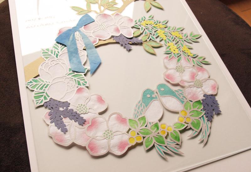 花水木と鳥さんのウェルカムボード_d0051613_15265298.jpg