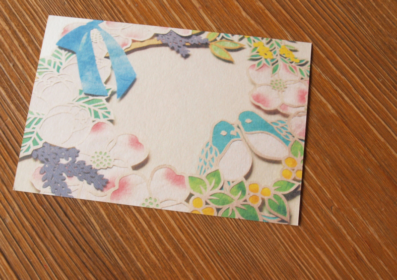 花水木と鳥さんのウェルカムボード_d0051613_15272222.jpg