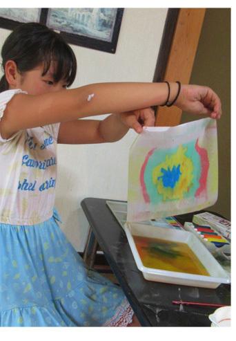 紙染め・デザイナーになってみよう・小学生クラス(比良)_f0211514_23012981.jpg