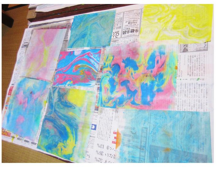 紙染め・デザイナーになってみよう・小学生クラス(比良)_f0211514_23030235.jpg