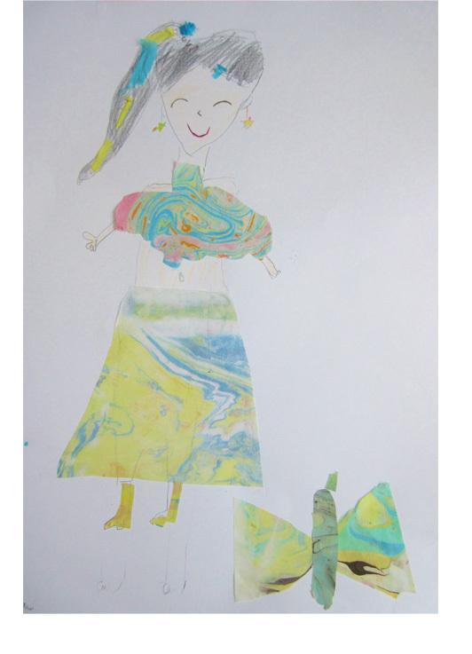紙染め・デザイナーになってみよう・小学生クラス(比良)_f0211514_23110222.jpg