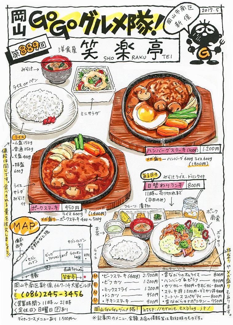 洋食屋 笑楽亭_d0118987_17552719.jpg