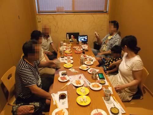 嫁の両親の送別会その1 回転寿司_f0019498_20082005.jpg