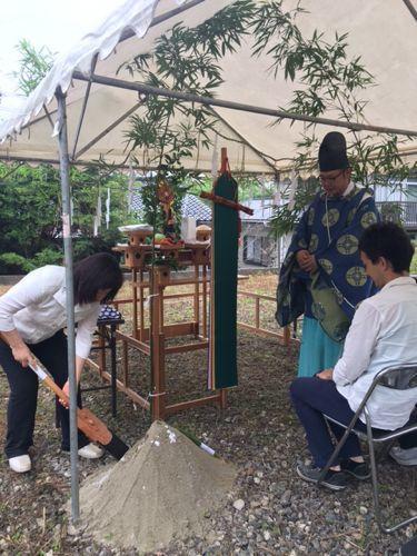 「南小倉の家」の地鎮祭でした。_e0029115_15323824.jpg