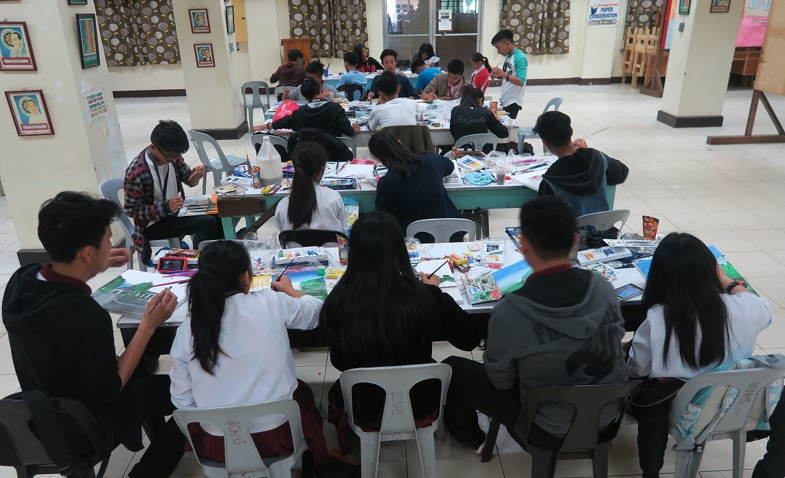Baguio Historical/Heritage sites Paininting workshop バギオ歴史遺産絵画コンテスト_a0109542_11562721.jpg