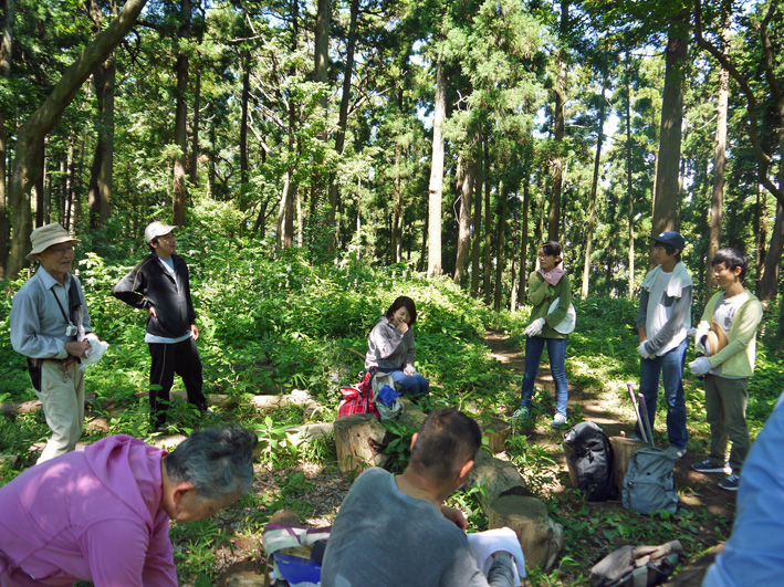 猛暑の中、鎌倉高生3人下草刈りに挑戦7月六国見山定例手入れ_c0014967_1049482.jpg