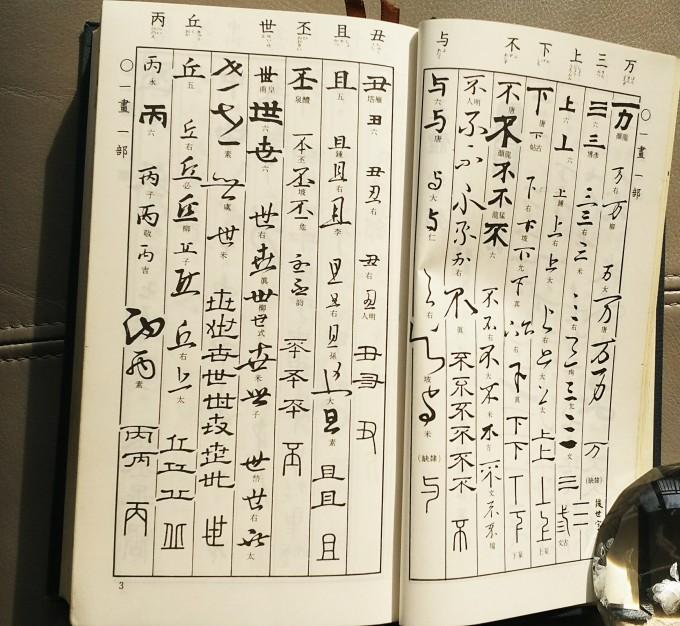 神戸から、書道の入門辞書、五体字類_a0098174_21135830.jpg