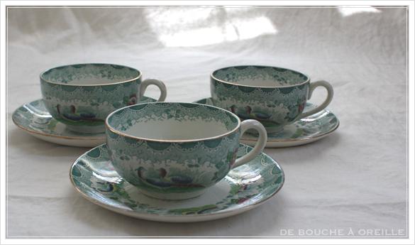 tasse et soucoupe anncienne サルグミンヌのカップ&ソーサー Sarreguemines フランスアンティーク その3_d0184921_16533233.jpg