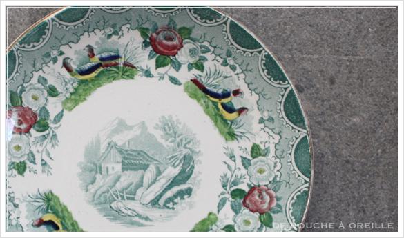 tasse et soucoupe anncienne サルグミンヌのカップ&ソーサー Sarreguemines フランスアンティーク その3_d0184921_17063957.jpg