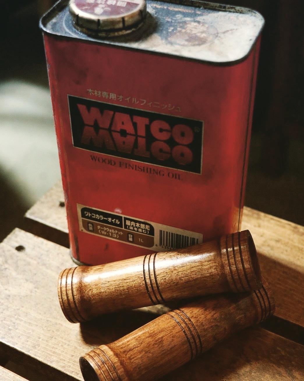 wood grip 桜WATCO&水性ウレタン仕上げ_e0365651_23273108.jpg