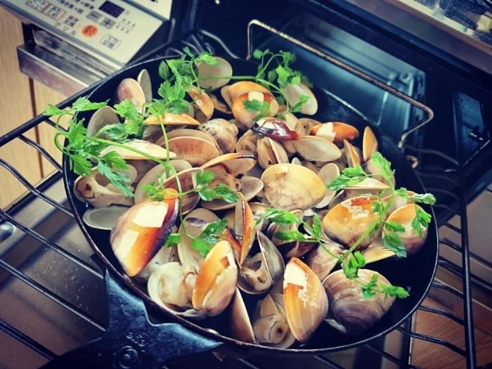 ガスコンで国産ハマグリの簡単グリルのレシピ~九十九里浜ではハマグリが大漁らしい。_b0221506_07500827.jpg