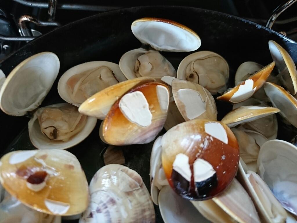ガスコンで国産ハマグリの簡単グリルのレシピ~九十九里浜ではハマグリが大漁らしい。_b0221506_07503024.jpg