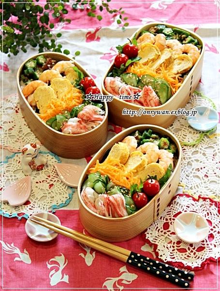 乗っけて簡単ちらし寿司弁当とパイナップル日記②とわんこ♪_f0348032_17334173.jpg