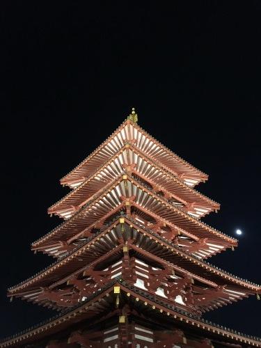 四天王寺 ライトアップ_a0194908_07522370.jpg