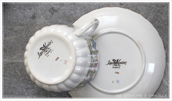 tasse et soucoupe anncienne サルグミンヌのカップ&ソーサー Sarreguemines フランスアンティーク その4_d0184921_17212901.jpg