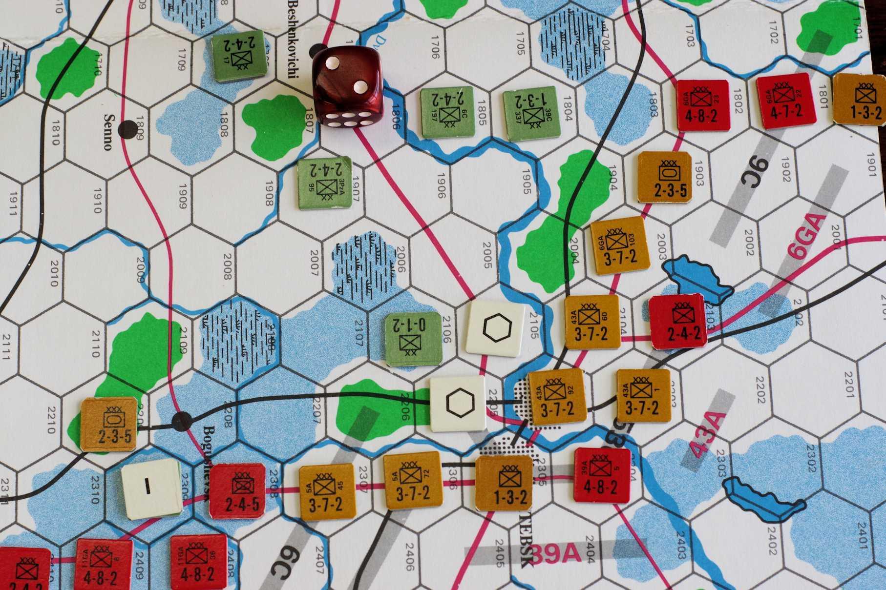第337回定例会の様子その5 またビックゲーム...パンさんの初バグラチオン作戦は(GDW)白ロシア大作戦_b0173672_18302986.jpeg