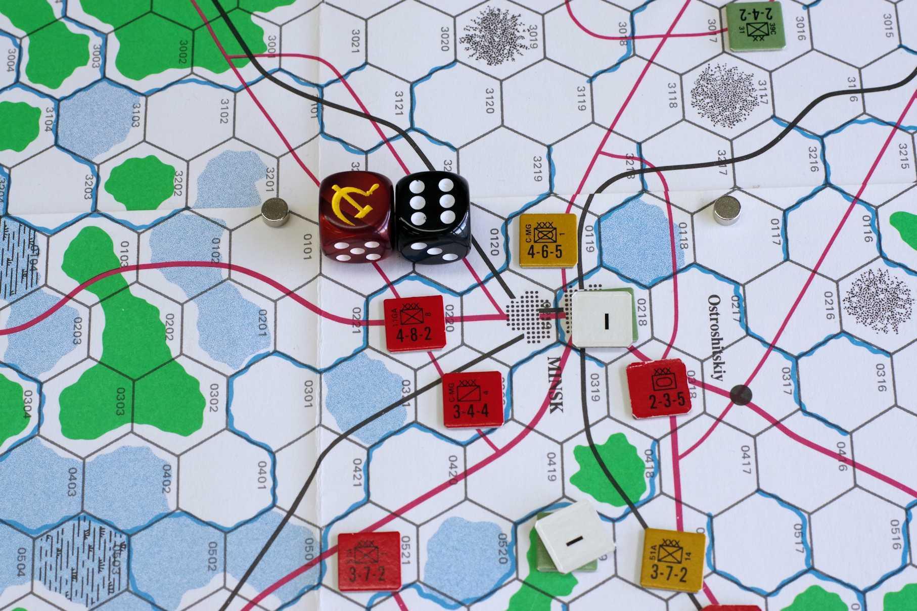 第337回定例会の様子その5 またビックゲーム...パンさんの初バグラチオン作戦は(GDW)白ロシア大作戦_b0173672_18303034.jpeg