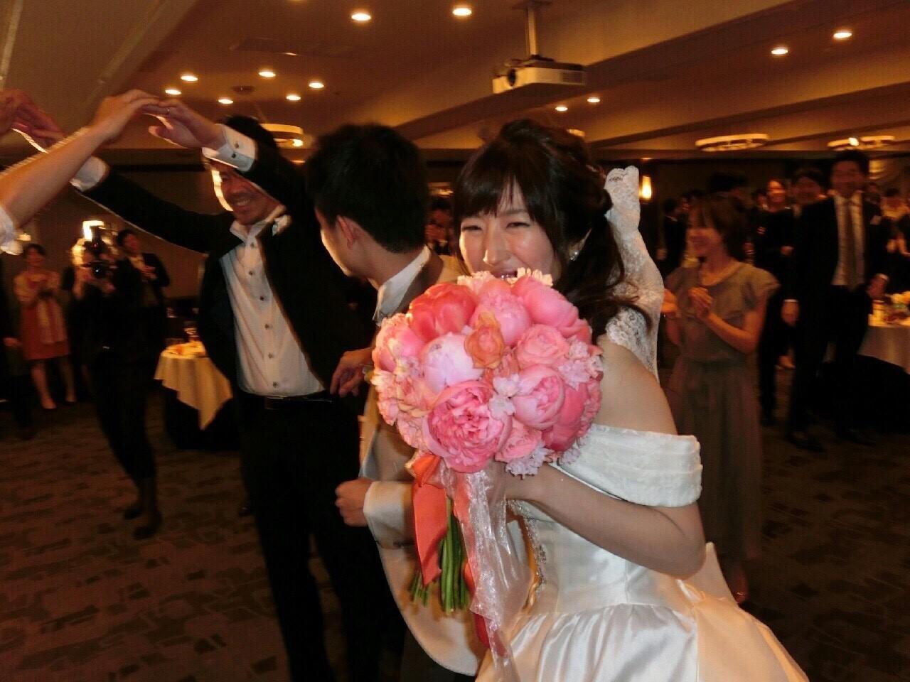 新郎新婦様からのメール シャクヤクのブーケ、ホテル椿山荘東京の花嫁様より_a0042928_11563103.jpg