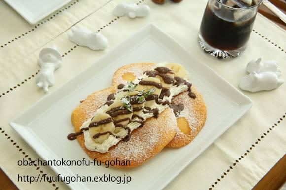チョコバナナスフレパンケーキ作ったの~_c0326245_12105297.jpg