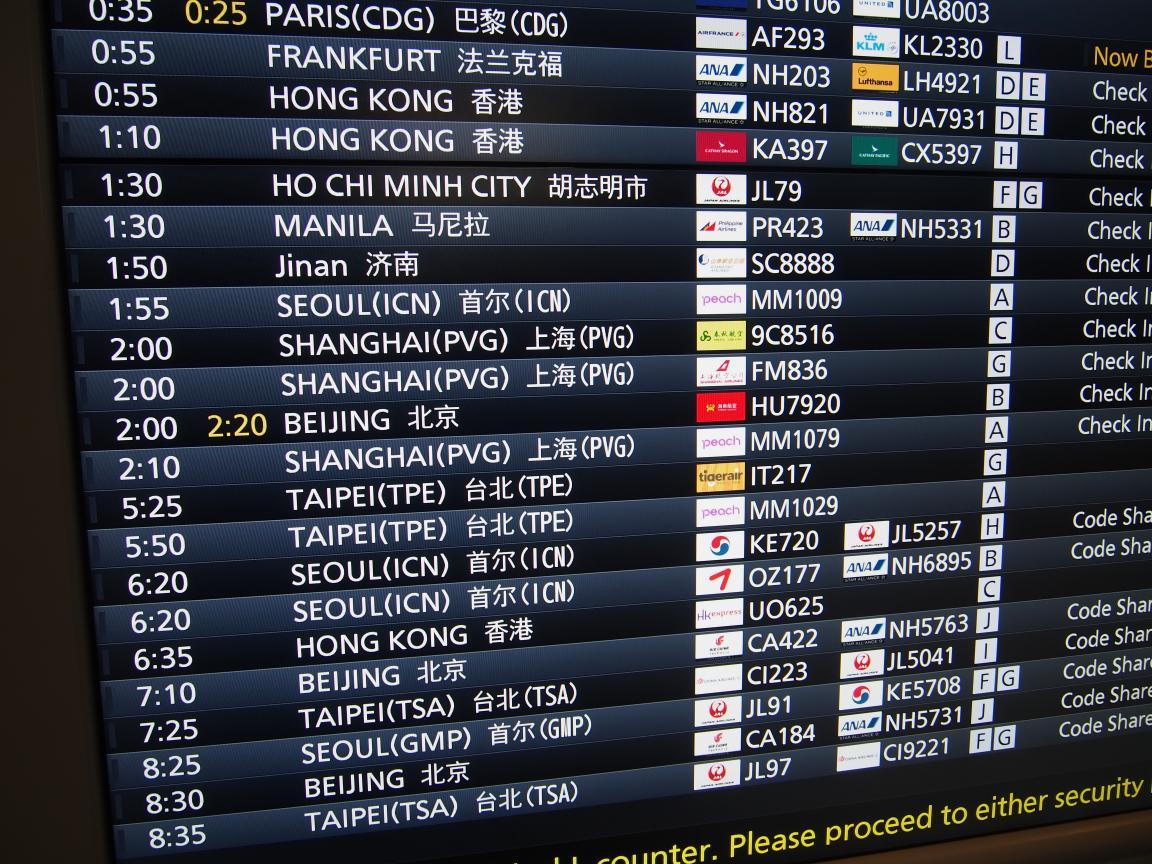 羽田国際ターミナルは、深夜便の増加で外国客でごった返している!_b0235153_2124736.jpg