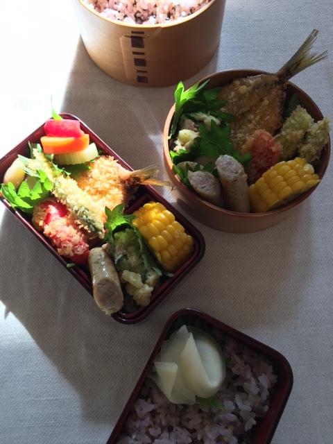 lunch box×2   夫と母へ_a0165160_17220468.jpg