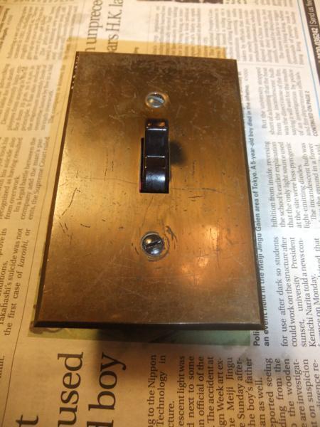 アンティークトグルスイッチ&真鍮プレートセット 3路スイッチ _d0335577_21321013.jpg