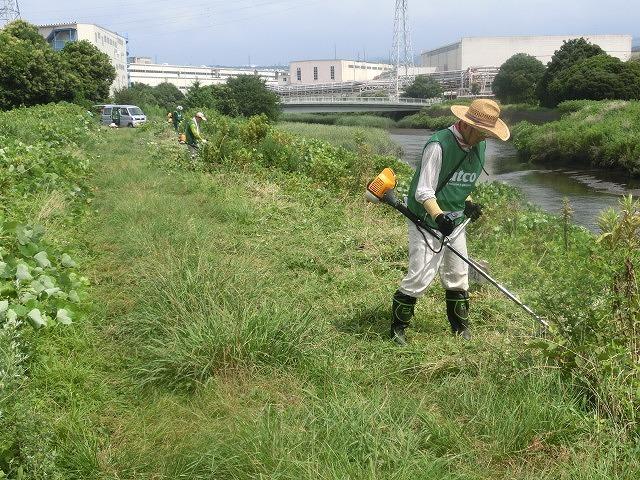 スイカの甘みが身体に浸みわたる 猛暑の中、今年初めての滝川の草刈り清掃_f0141310_06413209.jpg