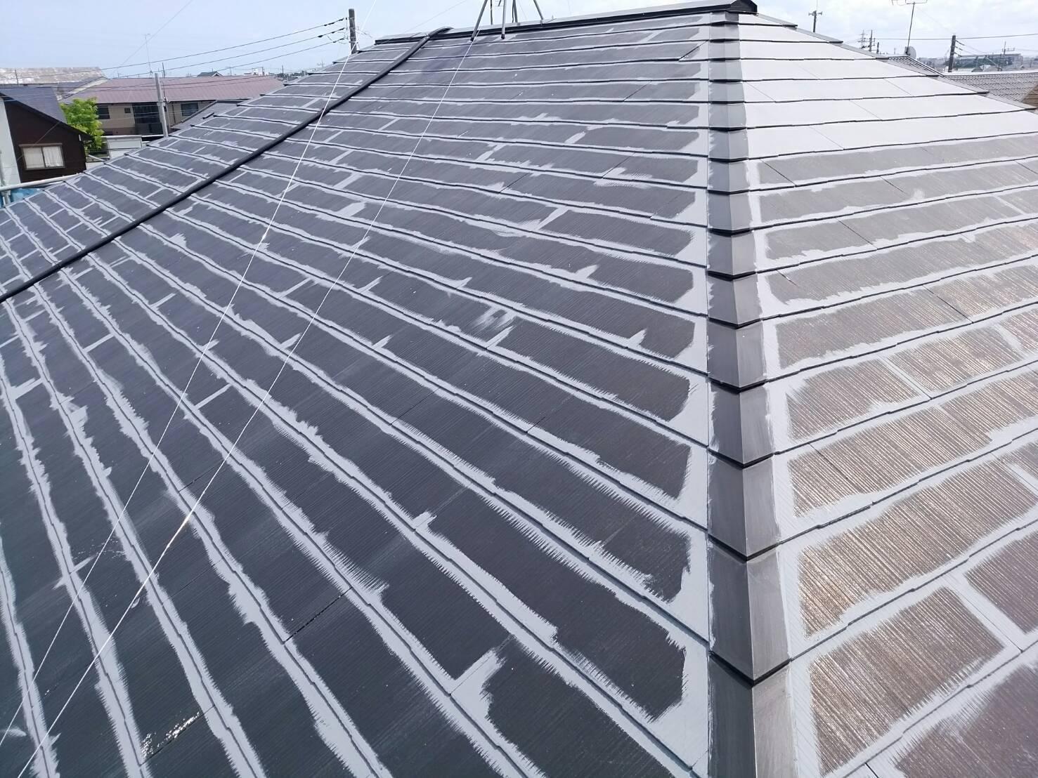 屋根コロニアル塗装_a0128746_19594115.jpg
