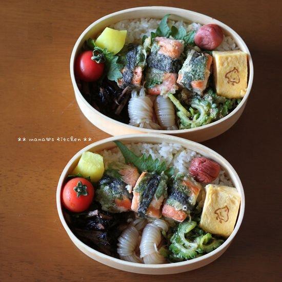 鮭の紫蘇海苔巻き ✿ おいしいコーヒー(๑¯﹃¯๑)♪_c0139375_11342033.jpg