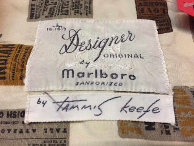 7月26日(水)大阪店ヴィンテージ入荷!!#5 Vintage Shirt編! Paddle&Saddle&Souvenir!!_c0078587_17301649.jpg