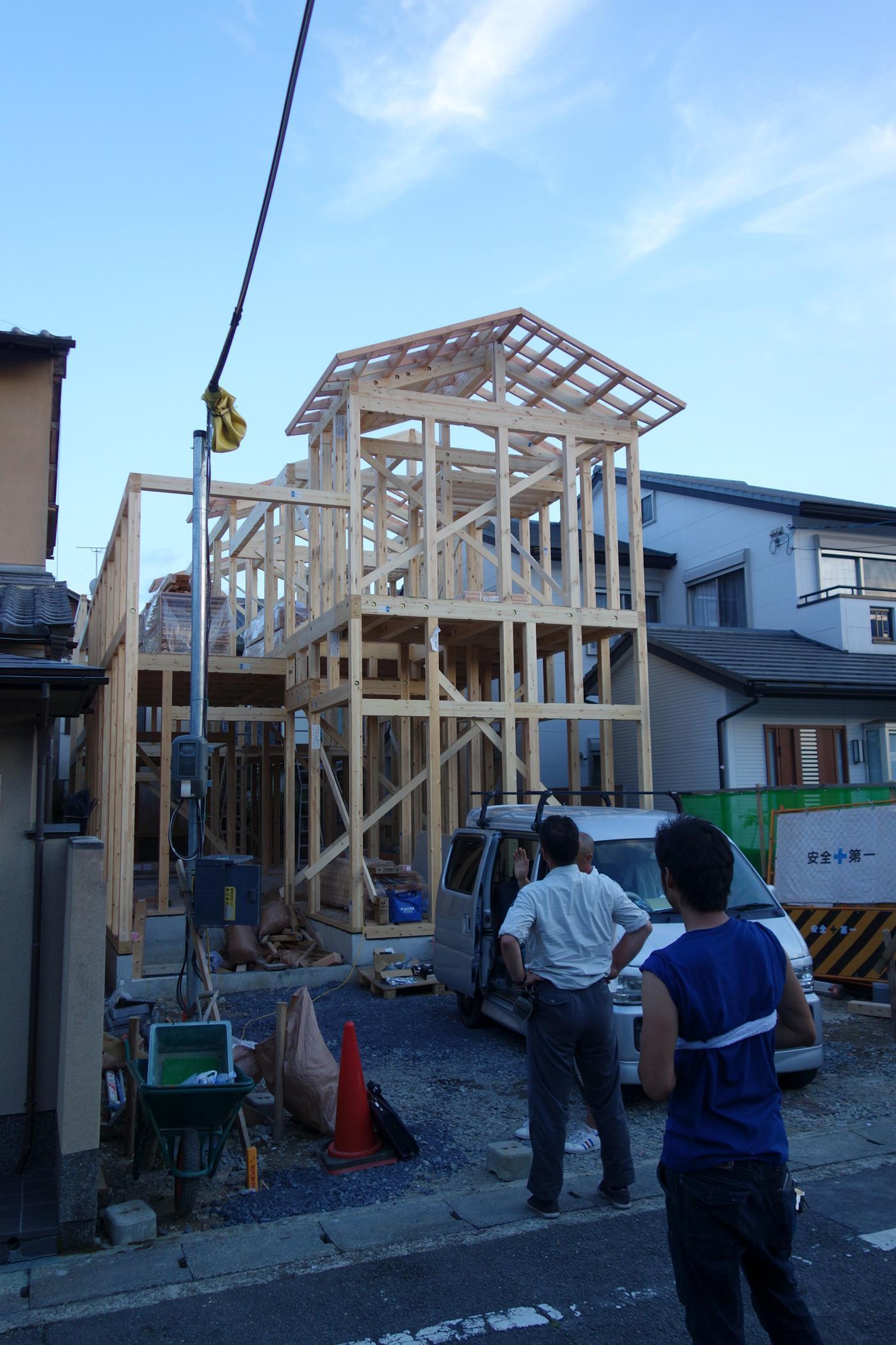 建て方@上賀茂_e0317421_15071694.jpg