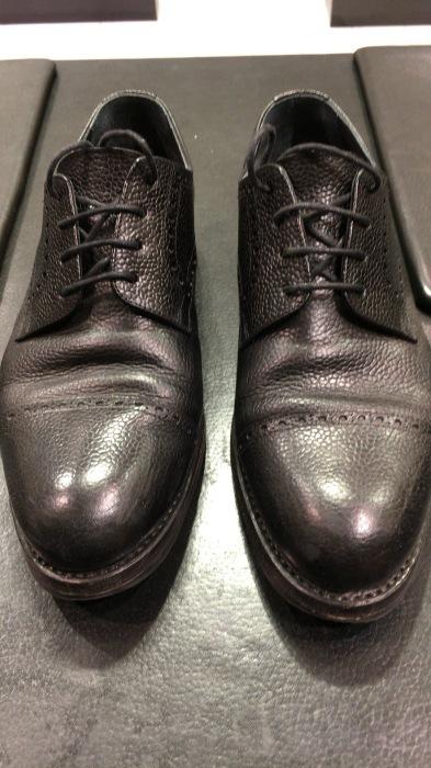シボ革靴マットに仕上げるケア_b0226322_11423937.jpg