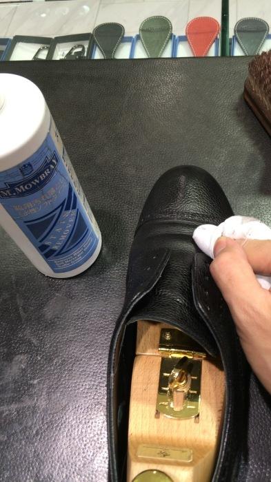 シボ革靴マットに仕上げるケア_b0226322_11423990.jpg