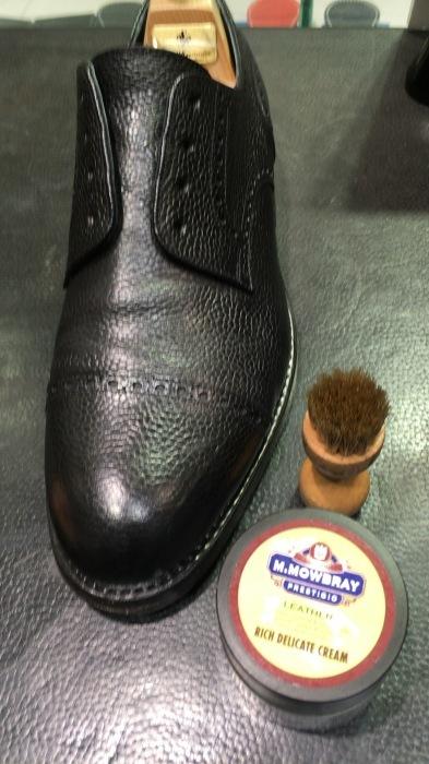 シボ革靴マットに仕上げるケア_b0226322_11424002.jpg