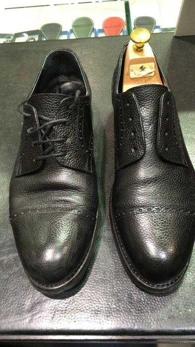 シボ革靴マットに仕上げるケア_b0226322_11424024.jpg