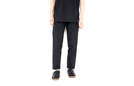 606 TAPERED BLACK DEINM PANTS_b0163746_16013897.jpg