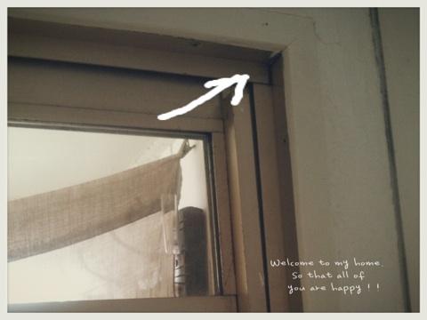 出入り口をひとつつぶして、セリアさんのA4フォトフレームを使って窓枠DIY工程編!!_c0325873_19590902.jpg