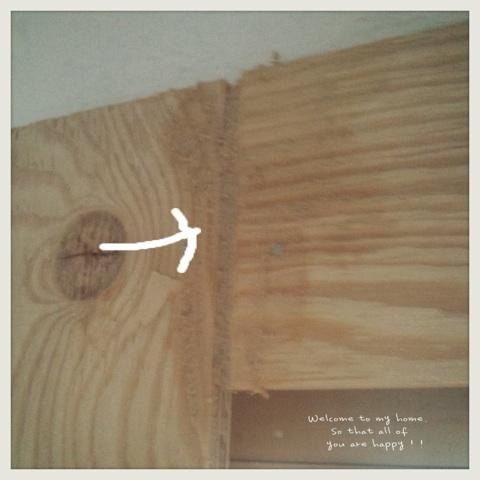 出入り口をひとつつぶして、セリアさんのA4フォトフレームを使って窓枠DIY工程編!!_c0325873_19591064.jpg