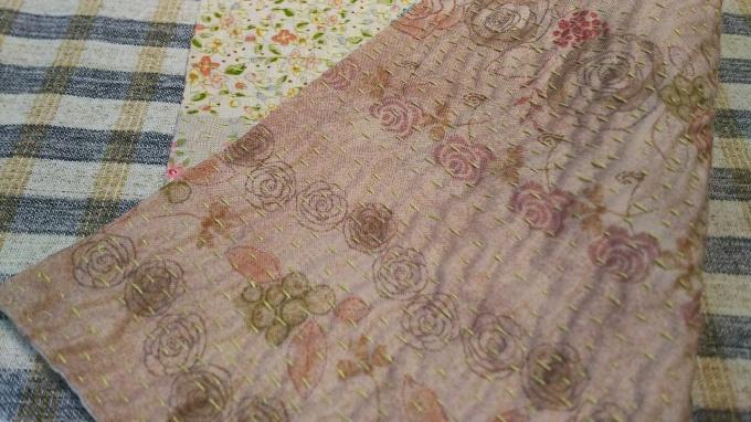 お花プリントのラリーキルトのハンカチ完成♪_f0374160_21150008.jpg