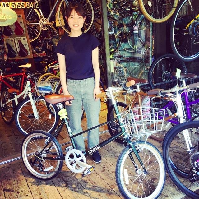 ☆今日のバイシクルガール☆ 自転車女子 自転車ガール ミニベロ クロスバイク ライトウェイ トーキョーバイク シュウイン ラレー ブルーノ おしゃれ自転車 マリン_b0212032_17481054.jpg