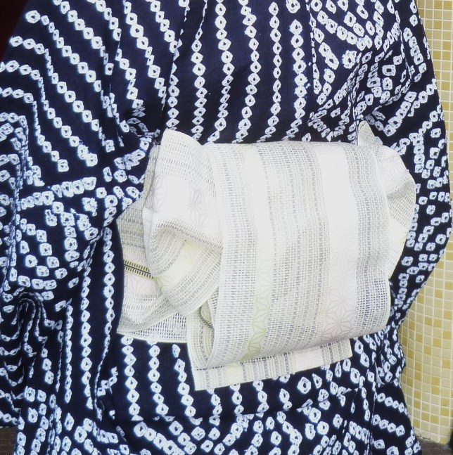 上七軒ビアガーデン・すっきりとした絞りの浴衣・マサヨさん_f0181251_18422224.jpg