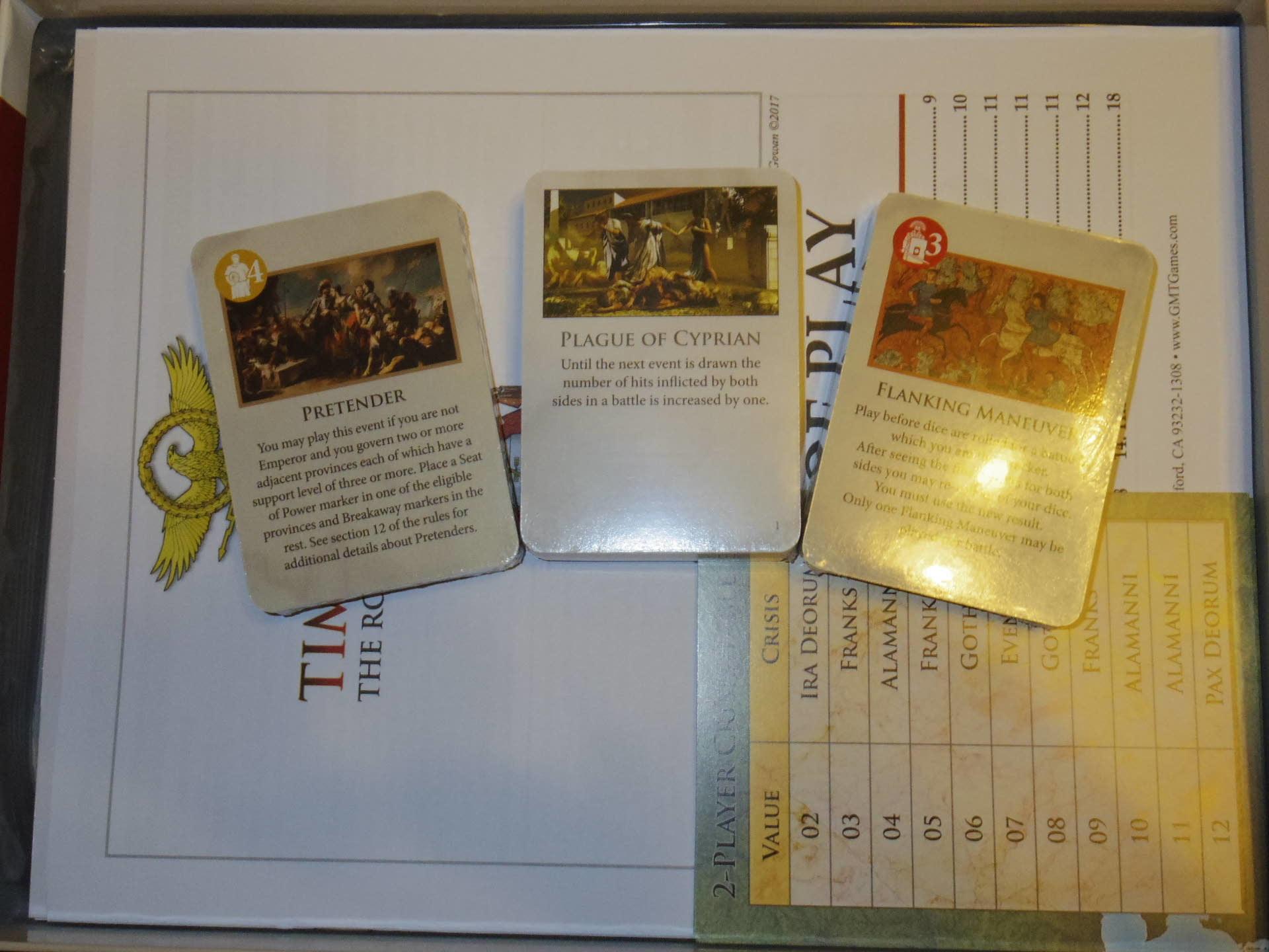 ローマ人の物語Ⅻ 「混迷する帝国」を、そのまま4人用マルチゲームにしたような...(GMT)Time of Crisis_b0173672_19341778.jpg