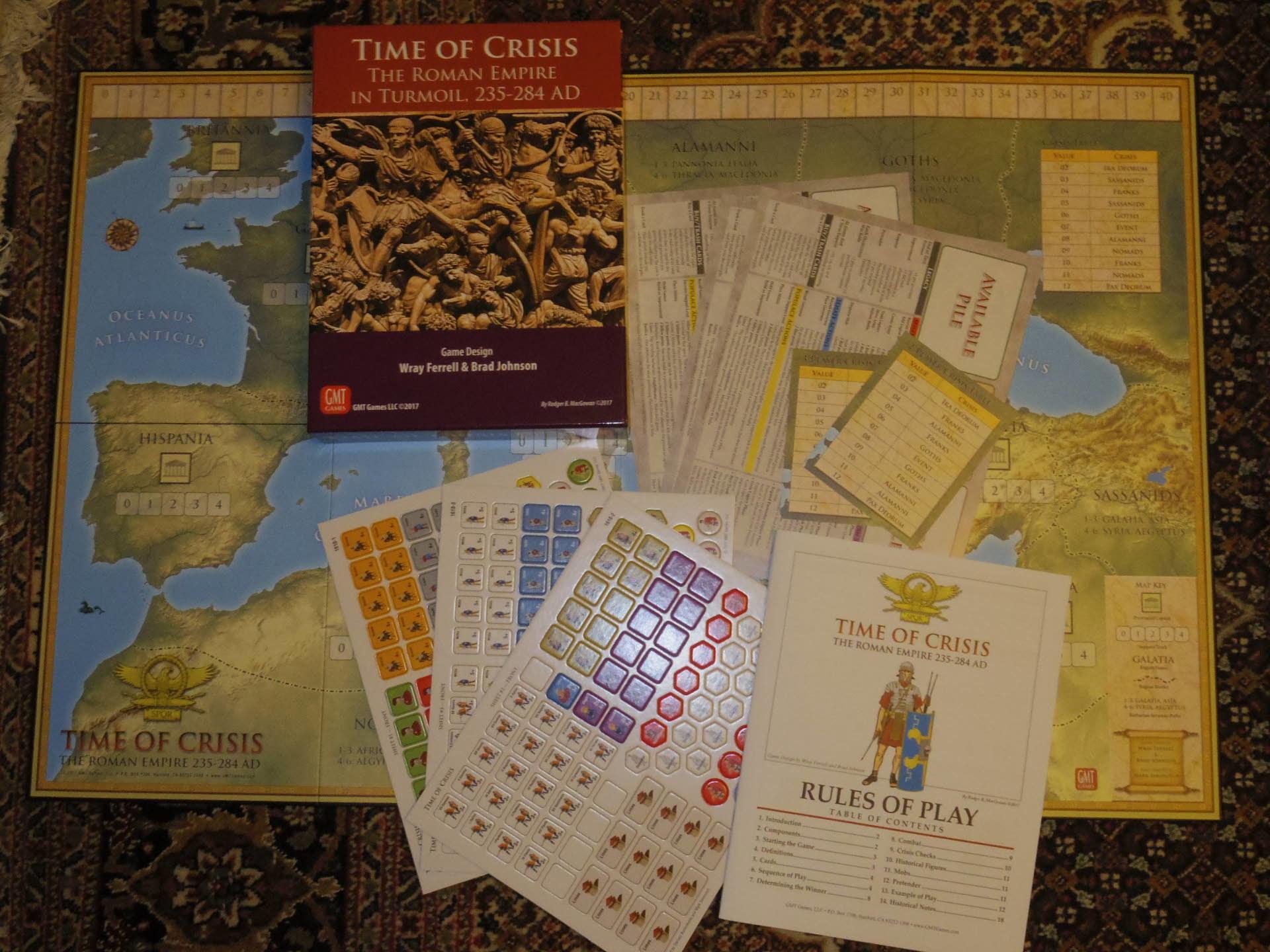 ローマ人の物語Ⅻ 「混迷する帝国」を、そのまま4人用マルチゲームにしたような...(GMT)Time of Crisis_b0173672_19341906.jpg