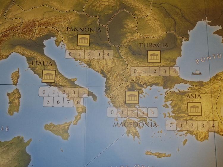 ローマ人の物語Ⅻ 「混迷する帝国」を、そのまま4人用マルチゲームにしたような...(GMT)Time of Crisis_b0173672_19341912.jpg